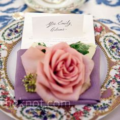 In keeping with the mix-and-match style, some of the tables had floral china.
