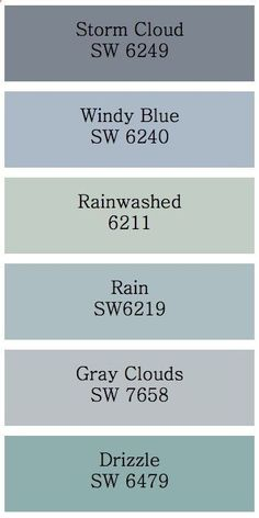 "Grayish Blue Paint love the color ""rain"" swi guess my favorite blue 