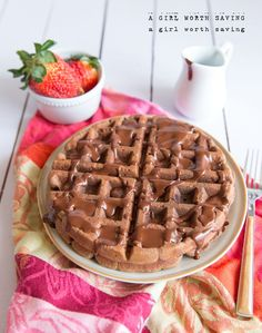 Paleo Chocolate Waffles | agirlworthsaving.net | #glutenfree #paleo