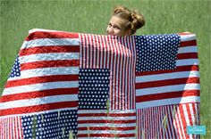 Flag quilt - perfect for the Fourth of July or just because I love the USA