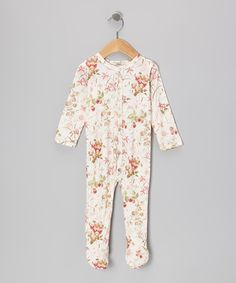 Take a look at this Pink Berries Jennifer Long-Sleeve Footie - Infant on zulily today!