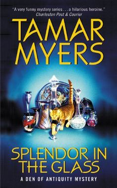 Splendor in the Glass: A Den of Antiquity Mystery by Tamar Myers http://www.amazon.com/dp/0380819643/ref=cm_sw_r_pi_dp_2NbAvb1K4YH87