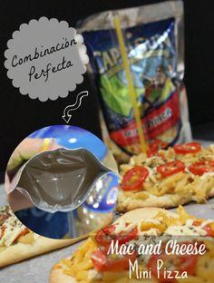 Mac and Cheese Mini Pizza, Un Aperitivo Fácil y Rápido para este campeonato de Fútbol.. #GolazoKraft #CollectiveBias #shop #cbias http://www.entrecomprasyelhogar.com/2014/06/mac-and-cheese-mini-pizza/