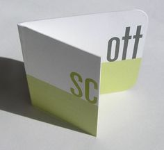 Folded Business Card. Order your now with http://www.cardsmadeeasy.com/folded-designs.php