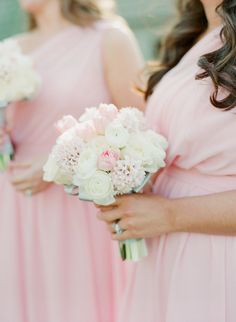 #white and #blush colored #bouquets | Photography by melissaschollaertphotography.com, florals by http://www.azpetalpusher.com, Planning by http://www.weddingsandevents.net   Read more - http://www.stylemepretty.com/2013/08/21/paradise-valley-arizona-wedding-from-melissa-schollaert-photography-victoria-canada-weddings-events/