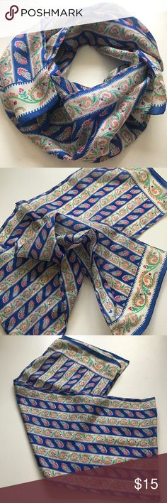 Beautiful Lightweight Colorfully Patterned Scarf I think this is a silk scarf but I'm not 100% sure - great condition vintage piece madewell for exposure not sure of brand Madewell Accessories Scarves & Wraps