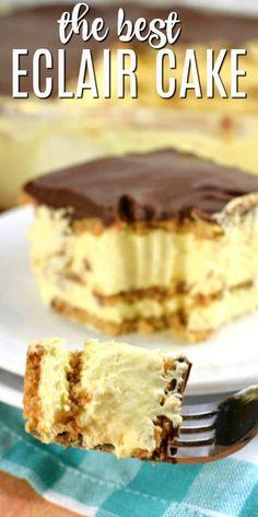 eclair cake no bake graham crackers & eclair cake ; eclair cake no bake ; eclair cake no bake graham crackers ; eclair cake with chocolate ganache ; eclair cake no bake easy desserts No Bake Eclair Cake, Eclair Cake Recipes, No Bake Cake, Chocolate Eclair Dessert, Chocolate Desserts, Chocolate Frosting, Cake Chocolate, Chocolate Videos, Chocolate Decorations