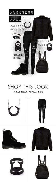 """Darkness Doll"" by rogueandwolf ❤ liked on Polyvore featuring Dr. Martens, New Look and STELLA McCARTNEY"