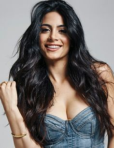 Beautiful Canadian actress: Emeraude Toubia, of Lebanese n Mexican parentage. Love the denim cropped blouse with low neckline w/ denim jeans, loose, long hair. Beautiful Girl Indian, Most Beautiful Indian Actress, Beautiful Girl Image, Beautiful Long Hair, Beautiful Actresses, Gorgeous Women, Hot Actresses, Beautiful Celebrities, Beautiful Pictures