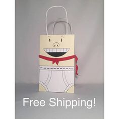 Items similar to 15 Captain Underpants Inspired, Mr. Krupp Party Bags Goody Loot Totes on Etsy 10th Birthday Parties, 12th Birthday, Favor Bags, Goodie Bags, Comic Party, Captain Underpants, Kids Bags, Party Bags, Gabriel