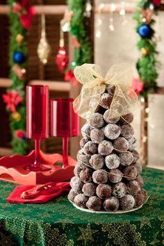 Árvore de Natal com trufas