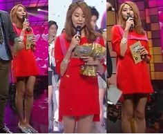 After School member Uee Could Wear a Red Sack and Still Look Hot