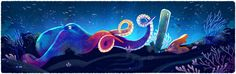 Google Doodle Earth Day 2016: Aquatic/Ocean, Coral Reef and Octopus