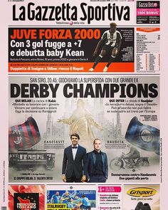 Prima pagina #Gazzetta 20/11/2016  San Siro, 20.45: 🔴⚫MILAN - INTER ⚫🔵 Pronostico? _____  #gazzettastore #primapagina #lagazzettadellosport #tuttoilrosadellavita #gazzetta #gazzettadellosport #gazzettasportiva #juve #juventus #fcjuventus #bianconeri #juventusstadium #kean #2000 #debutto #derby #derbydellamadonnina #milano #duomomilano #ohmiabelamadunina #milan #rossoneri #weareacmilan #inter #nerazzurri #fcinternazionale #milaninter #milanorossonera #milanonerazzurra…