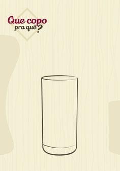 Copo suco: o modelo de copo para sucos mais comum se assemelha ao copo long drink (foto 8), porém é um pouco mais largo e baixo. O recipiente tem capacidade para aproximadamente 300 ml de bebida, com acréscimo ou não de pedras de gelo