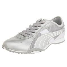Puma Lillea Metallic Frauen leder Sneaker / Schuhe-Silver-37 - Sportschuhe für frauen (*Partner-Link)