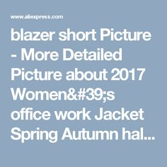 blazer short Picture - More Detailed Picture about 2017 Women's office work Jacket Spring Autumn half sleeve Solid Color Ruffled Blazers feminino Fashion Slim elegant Casual Coat Picture in   from NAI HUI Business Suit Flagship Store. Aliexpress.com | Alibaba Group