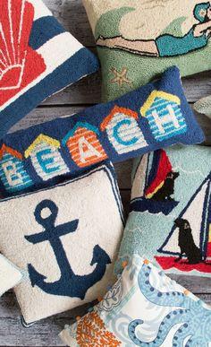 "love that ""beach"" pillow"