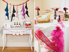 bachelorette party idea via hostess with the mostess. Instead of beer, wine!