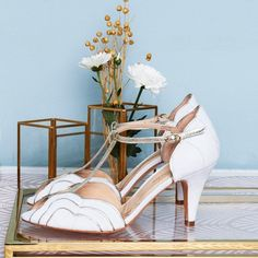 Where to Buy Wedding Shoes in Ireland Designer Wedding Shoes, Designer Heels, Silver Wedding Shoes, Ivory Wedding, Gold Leather, Leather Heels, Shoe Collection, Summer Collection, Rachel Simpson