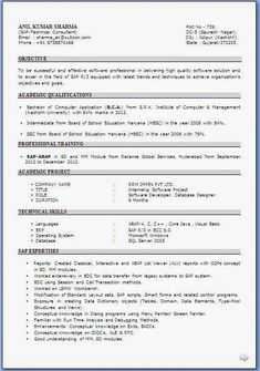 Resume Format For Mba Finance Fresher 1 Career Best