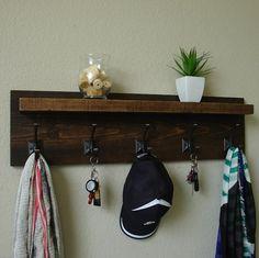 Claremont Coat Rack w/ Floating Shelf by KeoDecor on Etsy