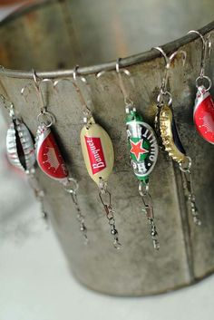 DIY Gifts For Men | Awesome Ideas for Your Boyfriend, Husband, Dad - Father , Brother and all the other important guys in your life. Cool Homemade DIY Crafts Men Will Truly Love to Receive for  Christmas, Birthdays, Anniversaries and Valentine's Day | Bottle Cap Fishing Lures |  http://diyjoy.com/diy-gifts-for-men-pinterest