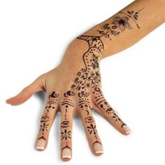 Simple Henna Designs For Hands - Bridal Accessories - Zimbio