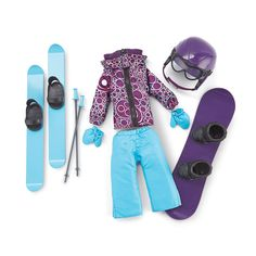 Rylee would love this Newberry(TM/MC) Ski and Snowboard Set Snowboard Set, Newberry Dolls, Canada Shopping, American Girl, Skiing, Clothes, Doll Stuff, Christmas 2016, Brittany