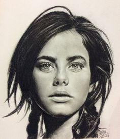 Pencil portrait of Kaya Scodelario by chaseroflight.deviantart.com on @deviantART