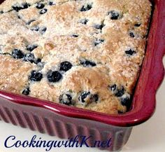 Cooking with K: Very Blueberry Muffin Coffee Cake