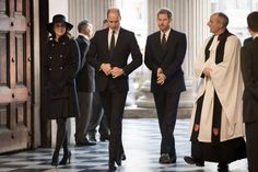 Britain's Catherine Duchess of Cambridge Britain's Prince William Duke of Cambridge and Britain's Prince Harry arrive at St Paul's cathedral to...