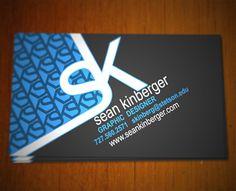 Sean Kinberger's Business Card by skinberger (via Creattica)