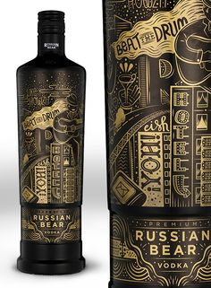 Russian Bear 'Urban Expressions' by Hylton Warburton via Behance Luxury Packaging, Beverage Packaging, Bottle Packaging, Brand Packaging, Design Packaging, Coffee Packaging, Food Packaging, Alcohol Bottles, Liquor Bottles