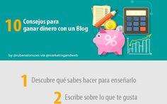 Consejos para aprender a vivir de un blog (infografía)
