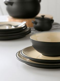 Denby black dinnerware at BHS