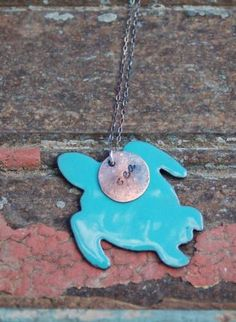 Copper Circle and Turtle Necklace, Jewelry, Turtle Jewelry Reborn Handmade Copper, Metal Sea Turtle Jewelry, Sea Turtle Art, Turtle Necklace, Metal Jewelry, Jewlery, Beauty Tips, Beauty Hacks, Tortoises, Handmade Copper