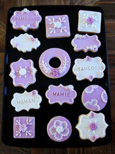 Biscuits décorés lavande /  lanvander decorated cookies Cookies, Homemade Cakes, Sugar, Desserts, Food, Decorated Sugar Cookies, Lavender, Crack Crackers, Tailgate Desserts