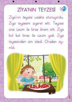 1. Sınıf Konu Anlatım METİN LEVHASI Learn Turkish, Education, Learning, Books, Libros, Studying, Book, Teaching, Onderwijs