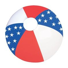 "Privateislandparty.com - 16"" Patriotic Star Beach Ball 9136 $1.25 This patriotic star beach ball is a blast all year long, but especially on the 4th of July! Also great for beach or beach-themed parties, fun at the pool or outdoor events. This Patriotic Star Beach Ball with stars on the blue panels with alternating red and white colors."