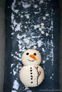 Snow Man Macarons