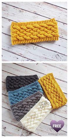 Knit Woven Cable Headband Free Knitting Patterns – Knitting Pattern Knitting TechniquesKnitting F Cable Knitting Patterns, Knitting Blogs, Free Knitting, Knitting Projects, Crochet Projects, Crochet Patterns, Beginner Knitting, Knitted Headband Free Pattern, Easy Crochet Headbands