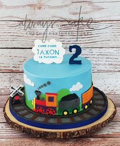 Celebration Cakes-Page 1 Train Birthday Party Cake, 2 Year Old Birthday Cake, Second Birthday Cakes, 2nd Birthday Party For Boys, Train Party, Thomas Birthday Cakes, Thomas Cakes, 4th Birthday, Birthday Ideas