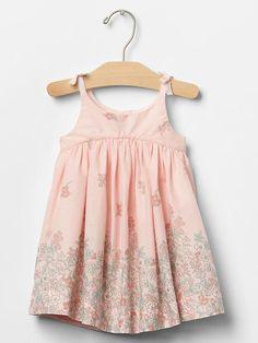 Floral border bow dress