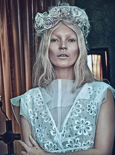 Kate  Moss. Photograph by Steven Klein, Styled by Edward Enninful W magazine, March 2012