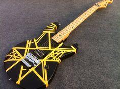 GOOD SOUND Eddie Van Halen Signature Charvel Guitar EVH guitar with black and yellow strip
