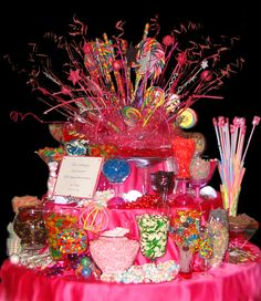 "This is my candy buffet ""explosion"" that I created for my daughter's wedding."