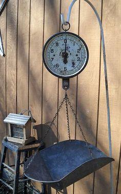 Vintage Penn Hanging Produce Scale Metal Basket Tray Scoop | eBay