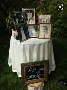 *MEMORY TABLE* Add burlap table runner with purple lace