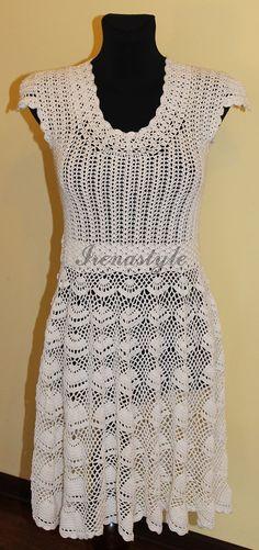 a51e3c870a8d MADE TO ORDER Crochet Dress custom made hand made by Irenastyle Nákres Na  Háčkování